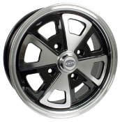 EMPI 2-Liter Style 914 Alloy Wheel 4x130 Gloss Black, Polished