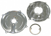 Alternator/Generator Backing Plate Kit - Chrome