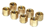 Solid Brass 11mm Hex Intake Exhaust Nut, pack of 8