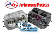AA Performance Stage 1 Ported/Polished Cylinder Heads, Pair