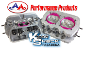 AA Performance Stage 2 Ported/Polished Cylinder Heads, Pair