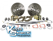 DELUXE Rear Disc Brake Kit '58 to '67 Double-Drilled HAS Ebrake