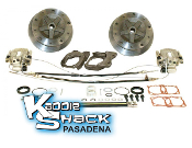 "DELUXE 1"" Wider 5x205 Rear Disc Brake Kit '68 to 72 HAS Ebrake"