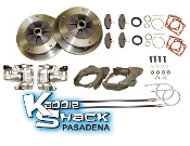 DELUXE ZERO OFFSET 5x205 Rear Disc Brake Kit '58 to 67 Ebrake