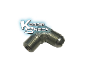 "Never Leak™ High Pressure Oil Adapter Flare x 3/8"" pipe 90 deg."
