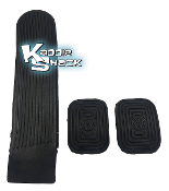 VW Logo Stock Pedal Pads Set, 3 piece kit