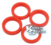 Red Urethane Beam Seals, Link Pin Type 1, Set/4