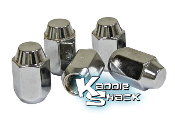 Chrome Lug Nuts, 12mm Acorn Style, Set of 5