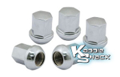 Porsche Style Chrome Aluminum Lug Nuts, 14mm Pack/5