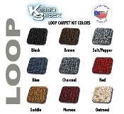 VW Super Beetle Sedan Loop Style Front Carpet Kit, Made in USA