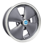EMPI 4-Spoke Wheel, 4x130 Anthracite, Polished Lip