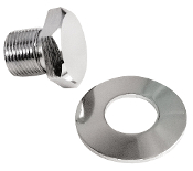 Chrome Crankshaft Pulley Bolt with Washer