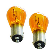 12V Amber Bulbs, Dual Filament, #1157, pair