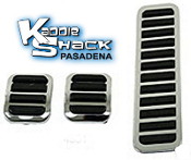 Custom Chrome/Black Pedal Pads Set, 3 piece kit