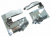 Dual Port Cylinder Shrouds (pair) - Chrome