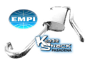 EMPI Hideaway Muffler for Merged Headers - Ceramic