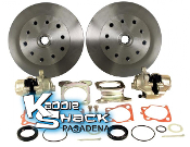 STANDARD Rear Disc Brake Kit '58 to '67 Double-Drilled No Ebrake