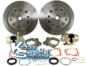 DELUXE Rear Disc Brake Kit '58 to '67 Double-Drilled No Ebrake