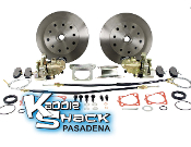 STANDARD Rear Disc Brake Kit '58 to 67 Double-Drilled HAS Ebrake