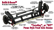 Build-A-Beam™ Ball Joint Front Puma Style Adjustable Axle Beam