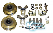 ZERO OFFSET Link Pin 5x205mm Disc Brake Kit, '65 & Earlier