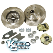 Bolt-On Link Pin Disc Brake Kit, Porsche 5x130mm + GM 5x4.75""