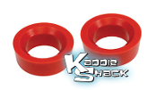 "Urethane Round Spring Plate Bushings, pair 1-7/8"" - See Chart"