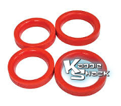 Red Urethane Beam Seals, Ball Joint Type 1, Set/4