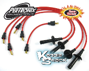 Pertronix Flame-Thrower 7mm Spark Plug Wires, Red