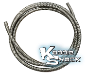 "#6 Cobra™ 3/8"" Diameter Braided Fuel Hose, Stainless Steel"