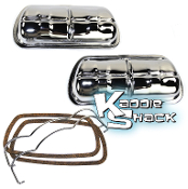 Stock Valve Covers with Bales and Gaskets, Chrome, Pair