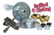 DELUXE Link Pin Porsche/Chevy Disc Brake Kit with Drop Spindles