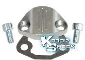 Aluminum Fuel Pump Block Off Plate Kit, Type 1 Polished
