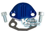 Aluminum Fuel Pump Block Off Plate Kit, Type 1 Blue