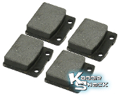 Brake Pads, Front Set/4, Ghia & T3, Also Fits Many Aftermarket