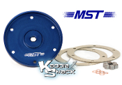 MST Billet Aluminum Oil Drain Plate Kit, Blue