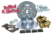 Bolt-On BJ Disc Brake Kit, Porsche/Chevy, Drilled & Slotted