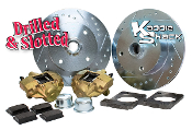 Bolt-On Ball Joint Disc Brake Kit, VW 4x130mm, Drilled & Slotted