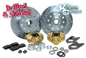 Bolt-On LP Disc Brake Kit, Porsche/Chevy, Drilled & Slotted