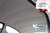 Headliner, Ivory, Fits '47-'67 Bug Sedan, Perforated Vinyl, USA