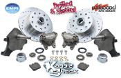 Porsche/Chev Wilwood Kit w/ Drop Spindles, Drilled & Slotted, BJ